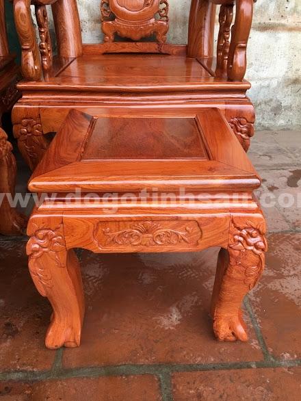 Bo ban ghe go huong da tay 10 3 - Bộ bàn ghế gỗ hương đá tay 10