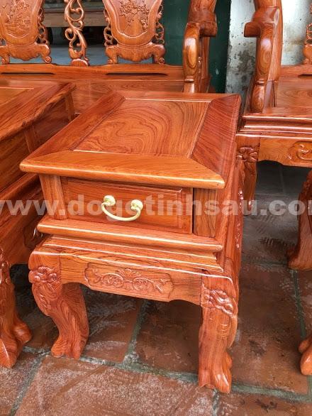 Bo ban ghe go huong da tay 10 4 - Bộ bàn ghế gỗ hương đá tay 10