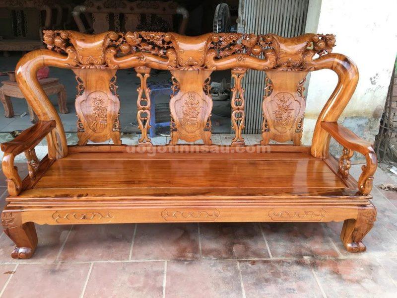 bộ bàn ghế minh quốc gỗ gụ ta tay 12