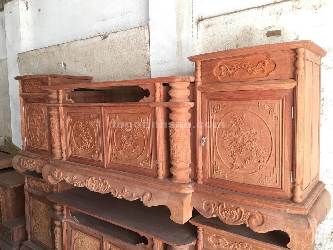 Kệ cột nho gỗ hương đá