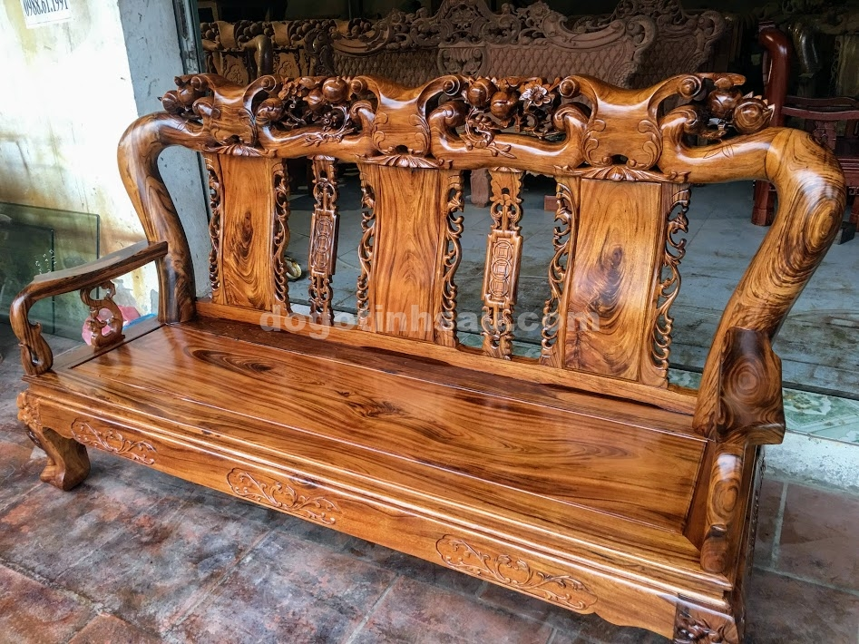 IMG 4260 - Bộ bàn ghế gỗ gụ ta tay 12 vân cực đẹp