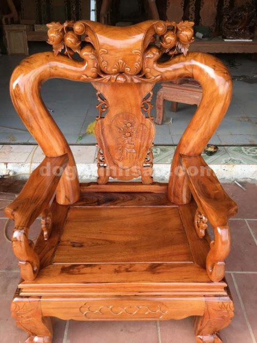 IMG 0646 500x667 - Bộ bàn ghế minh quốc tay 12 gỗ gụ ta vách liền