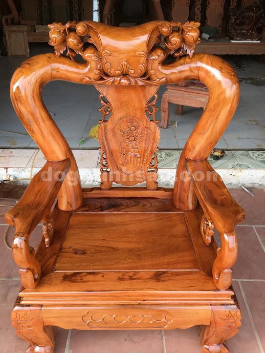 IMG 0646 - Bộ bàn ghế minh quốc tay 12 gỗ gụ ta vách liền