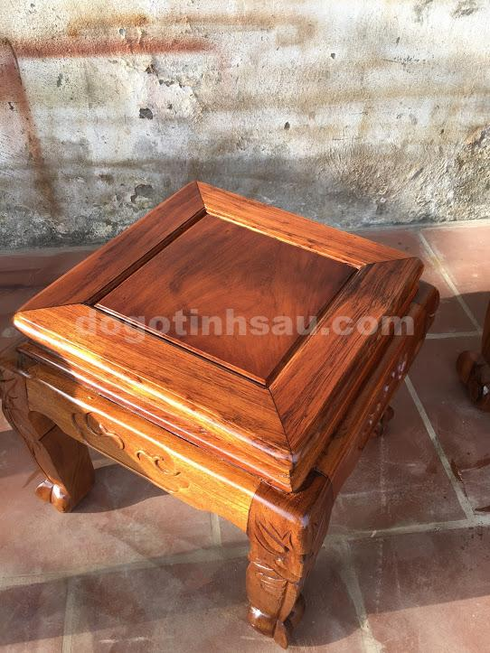 IMG 0659 - Bộ bàn ghế phòng khách gỗ gụ ta tay 12 vách rời