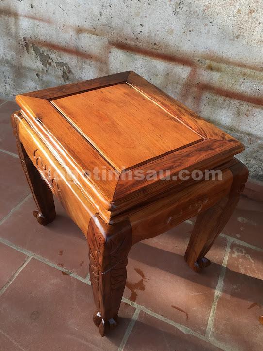 IMG 0660 - Bộ bàn ghế phòng khách gỗ gụ ta tay 12 vách rời