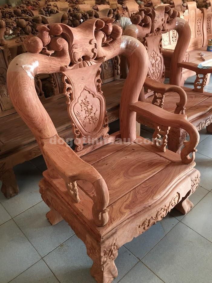IMG 3395 - Bộ bàn ghế gỗ hương đá tay 12 mẫu Minh Quốc