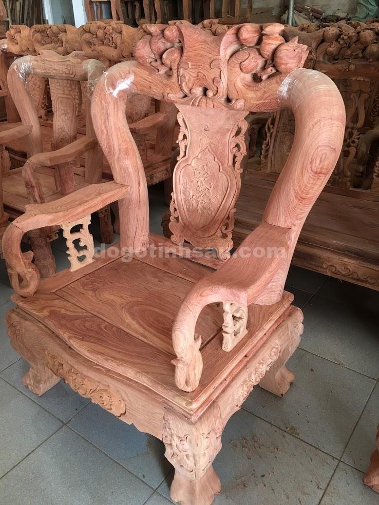 IMG 3396 - Bộ bàn ghế gỗ hương đá tay 12 mẫu Minh Quốc