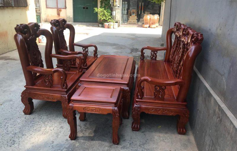 Bộ bàn ghế Minh Quốc đào gỗ gụ lào