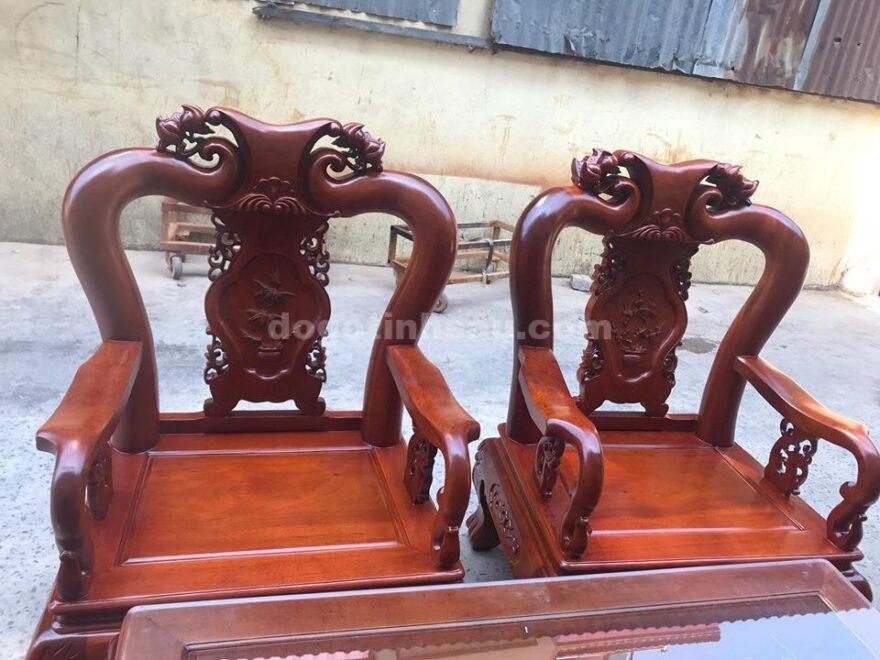 gu laoo 880x660 - Bộ bàn ghế Minh Quốc đào gỗ gụ lào tay 10
