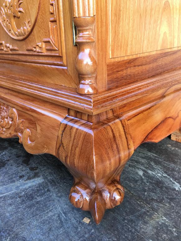 IMG 4091 - Kệ tivi cột nho gỗ gõ đỏ