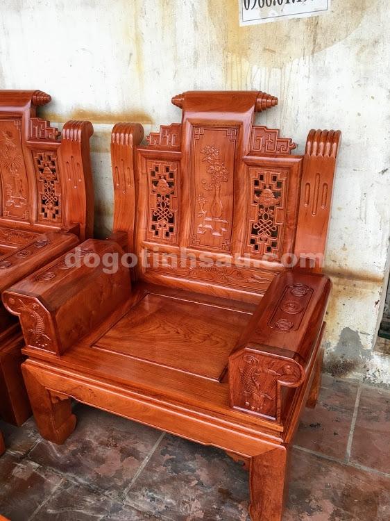IMG 4438 - Bộ bàn ghế hộp âu á gỗ hương đá
