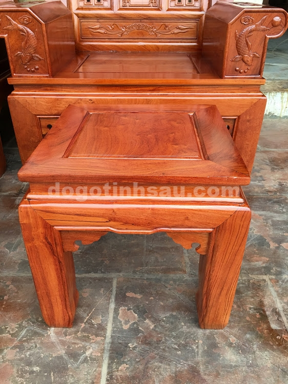 IMG 4442 - Bộ bàn ghế hộp âu á gỗ hương đá