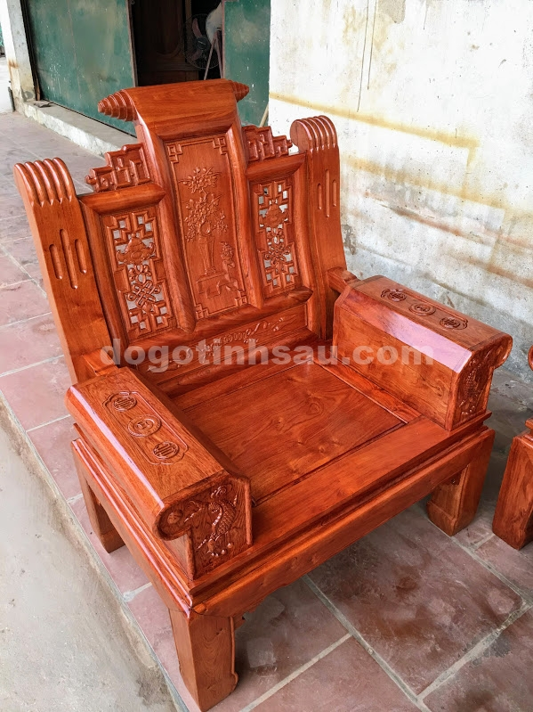 IMG 4443 - Bộ bàn ghế hộp âu á gỗ hương đá