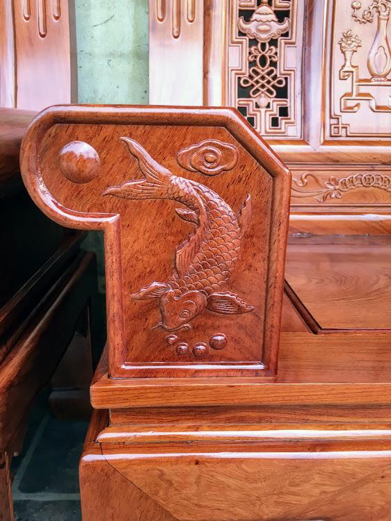 IMG 4453 - Bộ bàn ghế hộp âu á gỗ hương đá