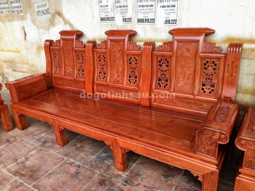 IMG 4454 880x660 - Bộ bàn ghế hộp âu á gỗ hương đá