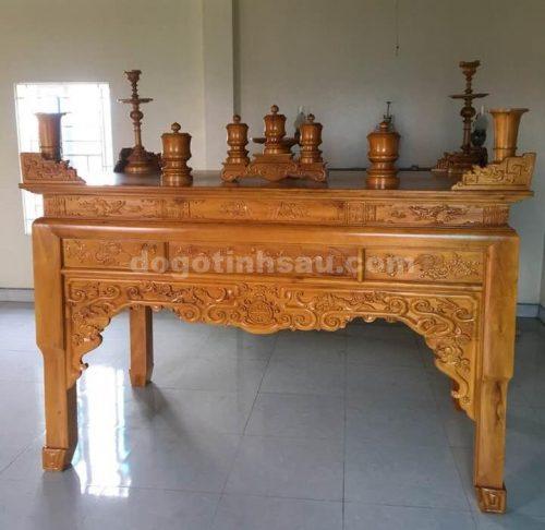 an gian11 1 500x486 - Án gian thờ gỗ mít bệ như ý chân quỳ