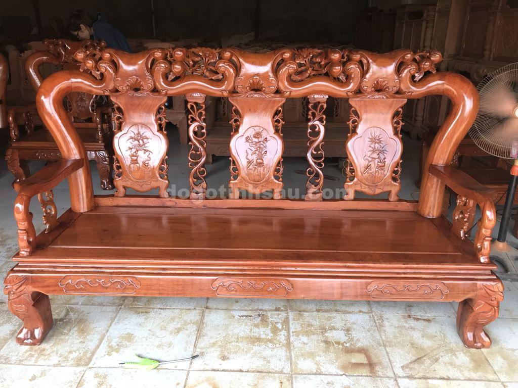 doan dai opt - Bộ bàn ghế mẫu Minh Quốc đào tay 12 gỗ hương đá