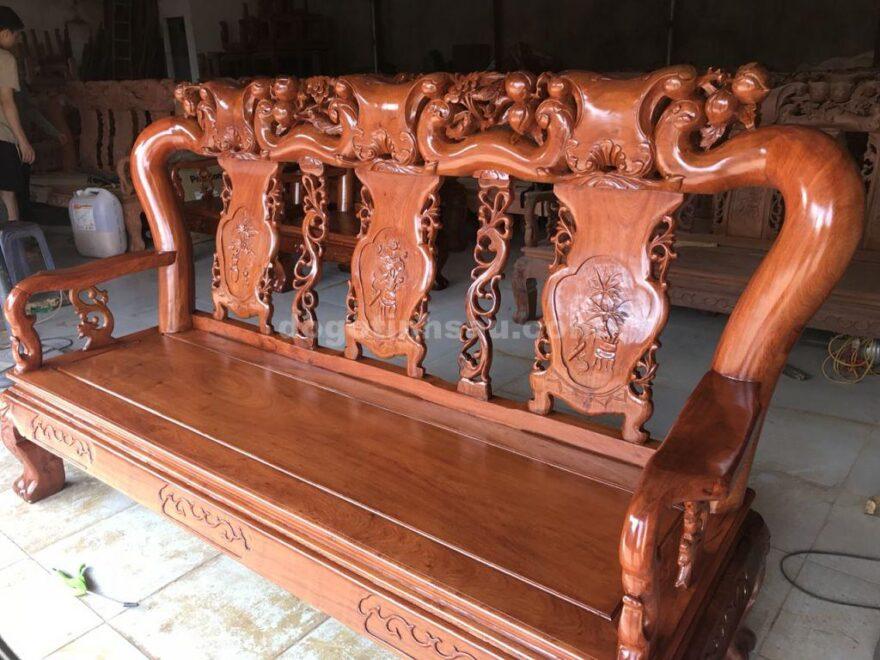 bàn ghế tay 12 gỗ hương đá