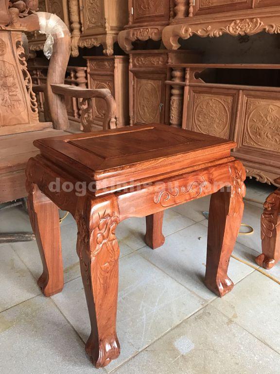don kep huong da opt - Bộ bàn ghế mẫu Minh Quốc đào tay 12 gỗ hương đá