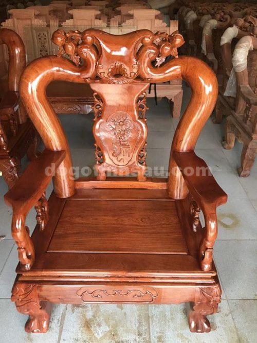 ghe don 2 opt 500x667 - Bộ bàn ghế mẫu Minh Quốc đào tay 12 gỗ hương đá