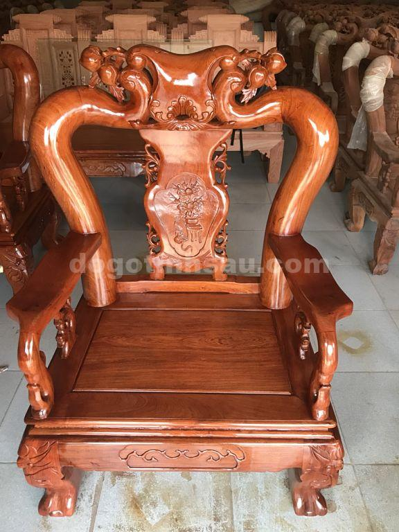 ghe don 2 opt - Bộ bàn ghế mẫu Minh Quốc đào tay 12 gỗ hương đá