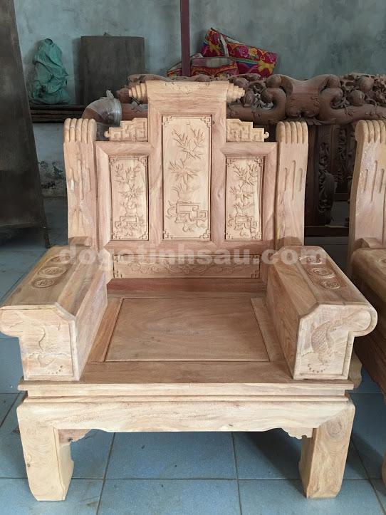 IMG 3314 - Bộ bàn ghế âu á tay hộp chương cuốn thư gỗ gõ đỏ