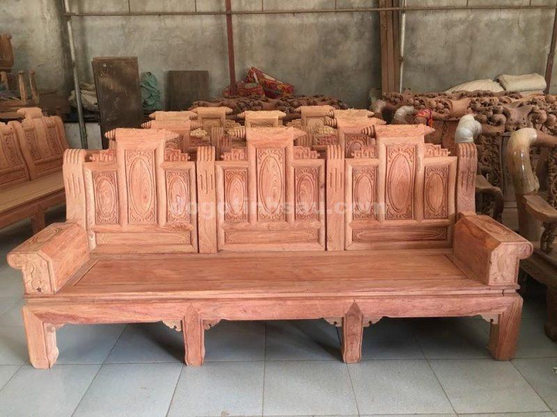 Bộ bàn ghế âu á hộp gỗ hương đá