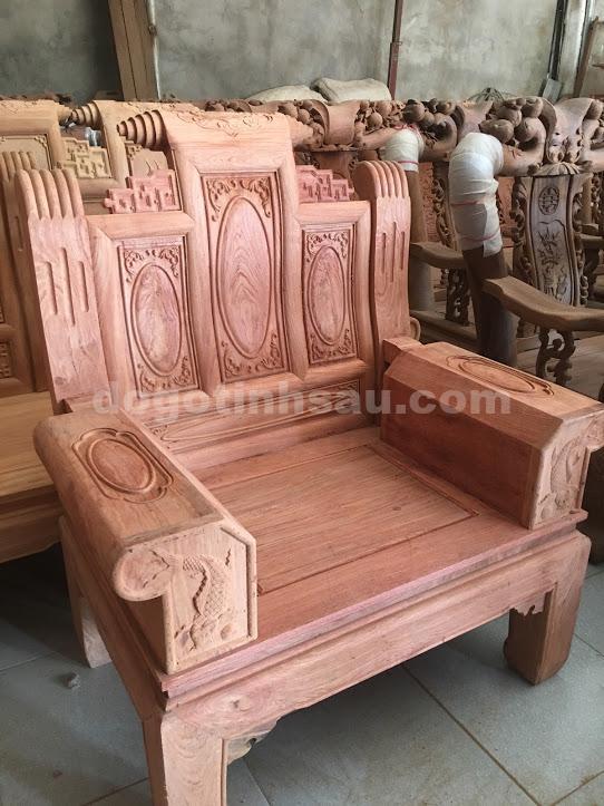 IMG 3335 - Bộ bàn ghế âu á hộp chương cuốn thư gỗ hương đá