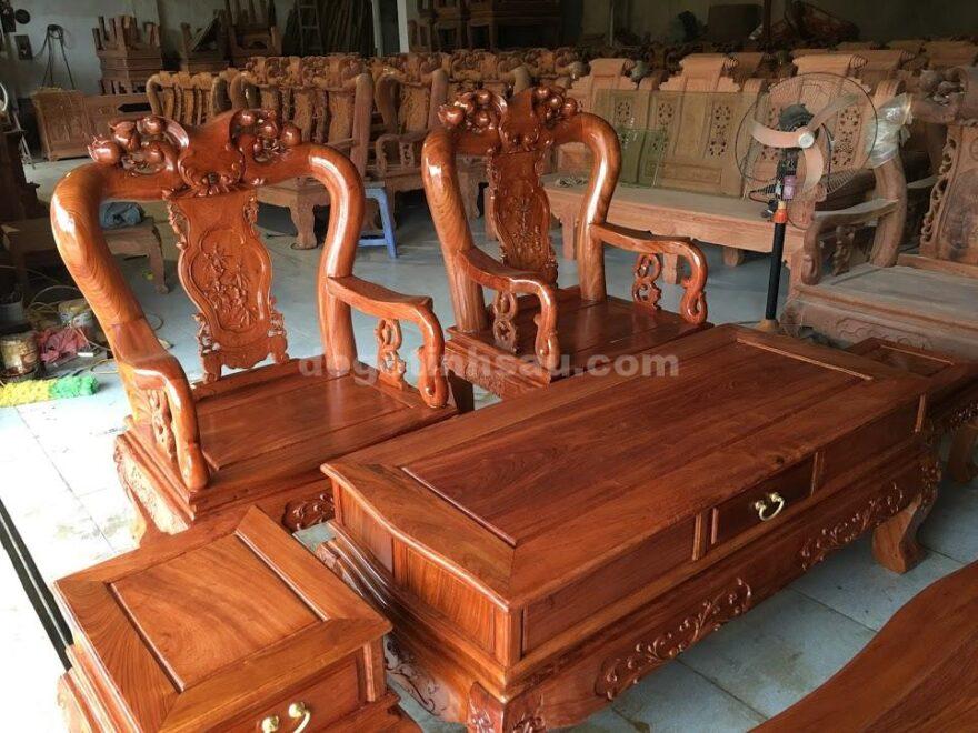 bộ ghế minh quốc hương đá bàn đôn hộp