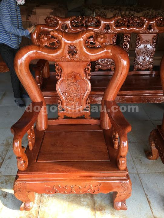 IMG 3684 - Bộ ghế minh quốc hồng trĩ tay 10 gỗ hương đá