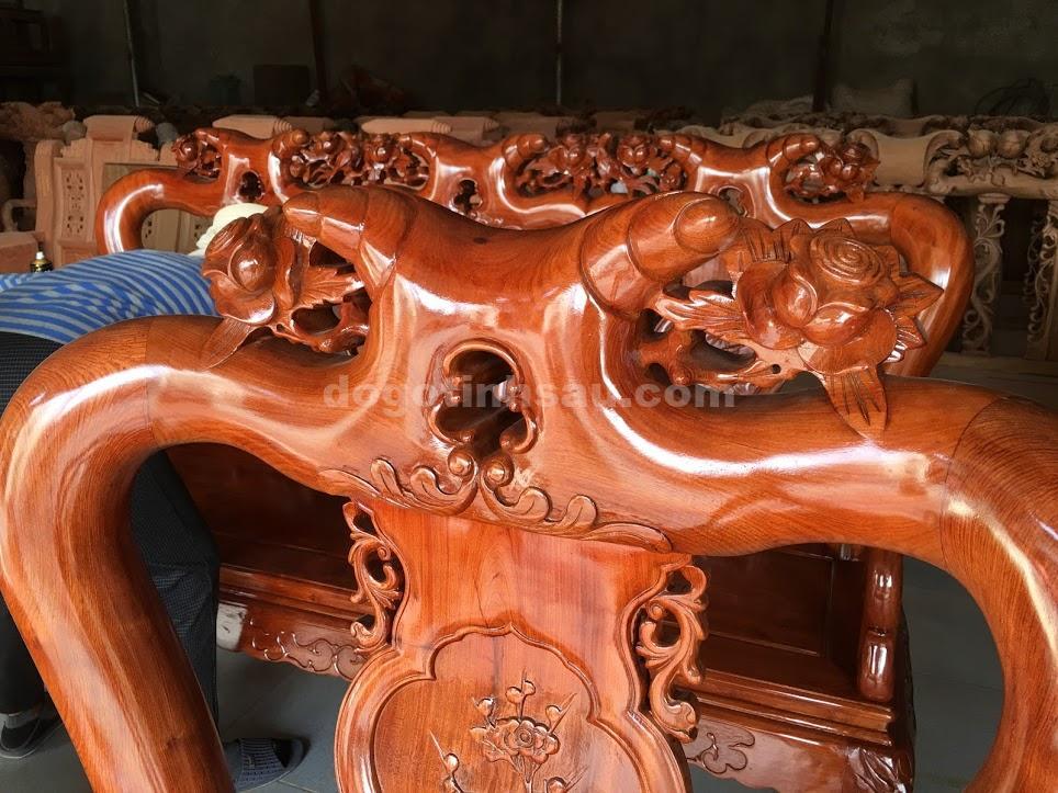 IMG 3686 - Bộ ghế minh quốc hồng trĩ tay 10 gỗ hương đá