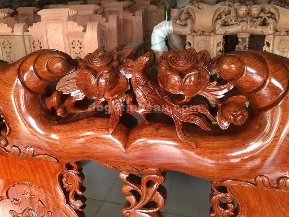 IMG 3693 - Bộ ghế minh quốc hồng trĩ tay 10 gỗ hương đá