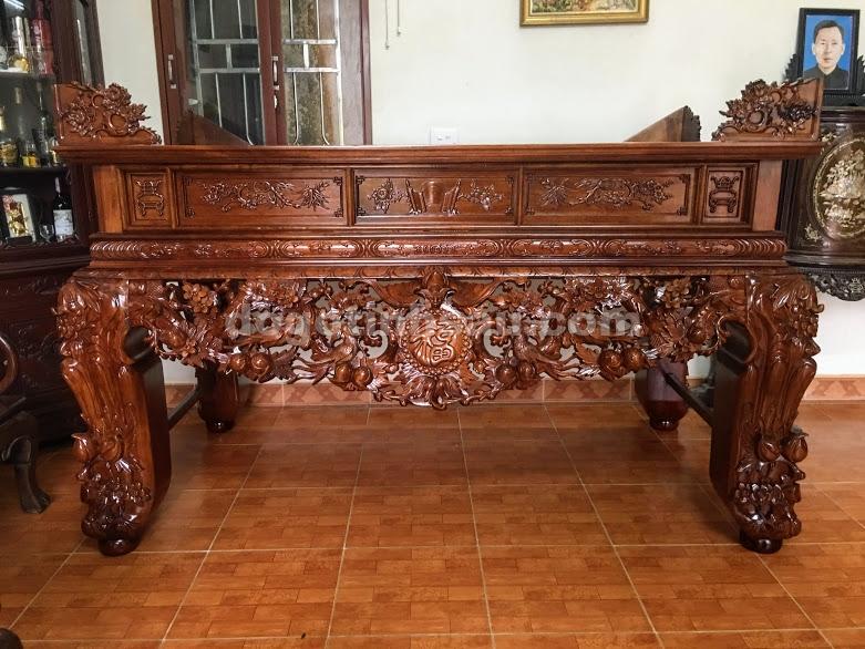 IMG 4794 - Sập thờ mai điểu chân 20 gỗ gụ lào