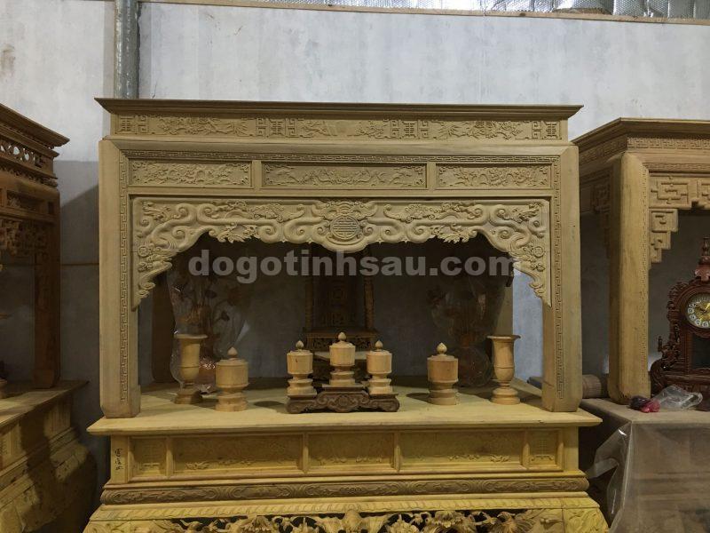 an gian tho go doi - Án gian thờ mẫu như ý gỗ dổi chân 12