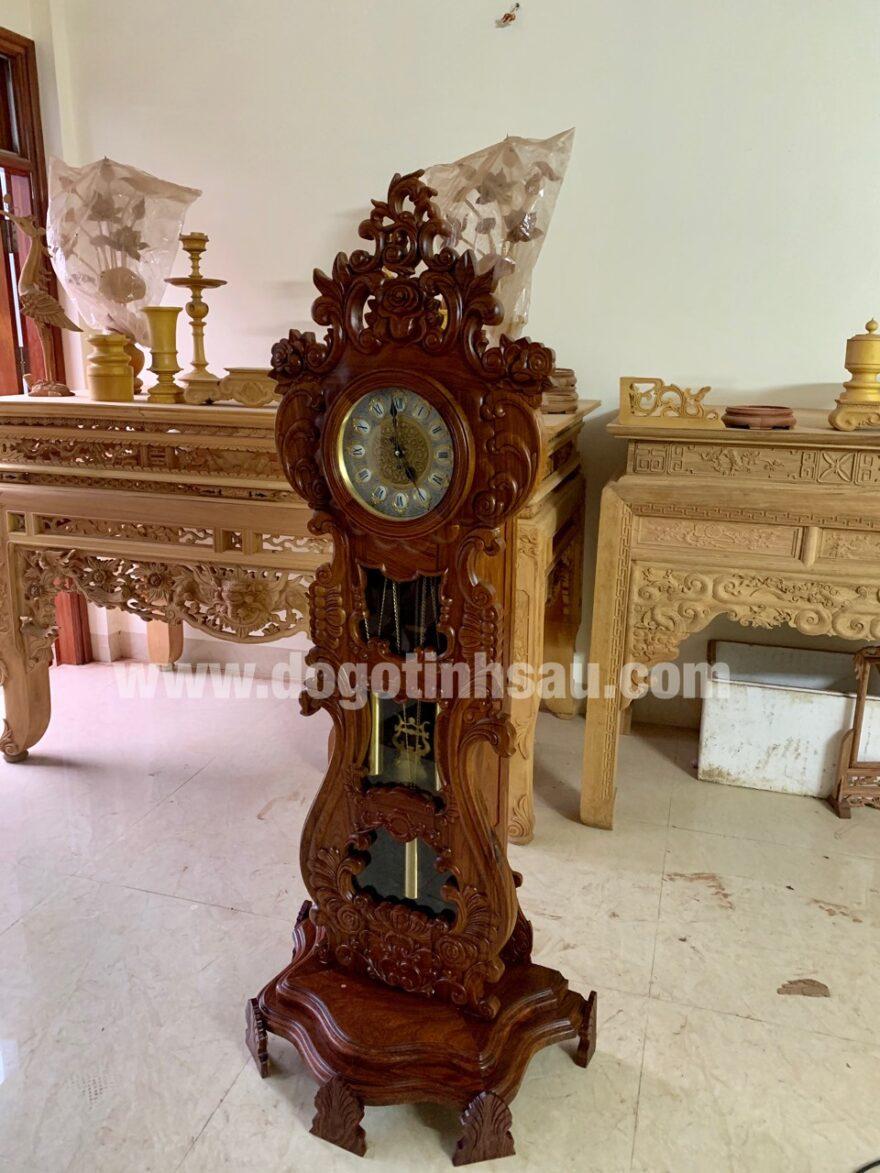 gia dong ho cay dan go huong van 880x1173 - Đồng hồ cây đàn gỗ hương vân