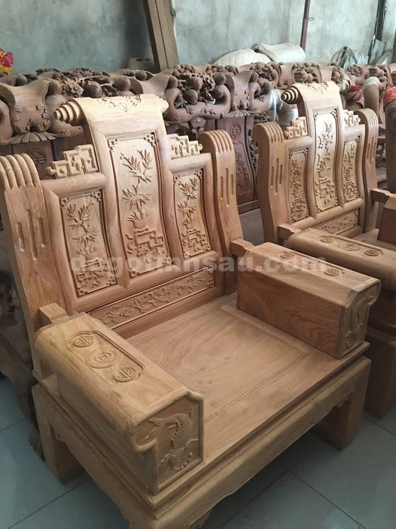 hop au a go - Bộ bàn ghế âu á tay hộp chương cuốn thư gỗ gõ đỏ