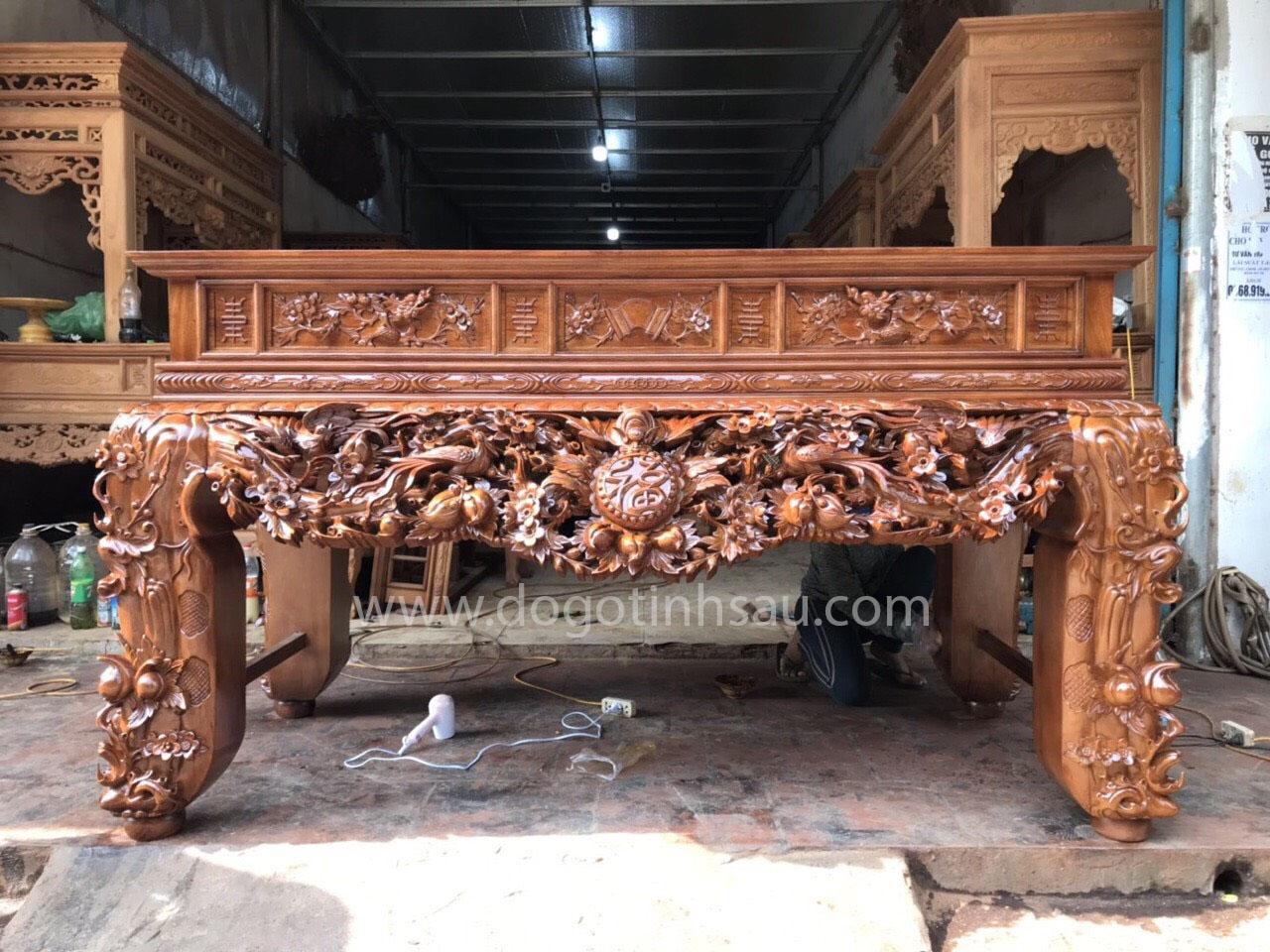 sap tho go gu lao - Báo giá sập thờ gỗ mít, gỗ gụ năm 2021