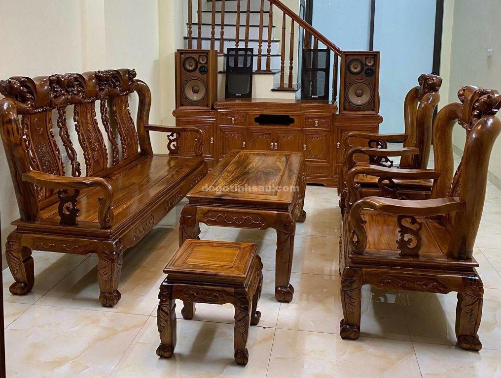 1234 opt 1 - Bộ bàn ghế gỗ gụ ta tay 10