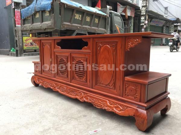 IMG 2389 600x450 - Kệ tivi phẳng gỗ hương đá