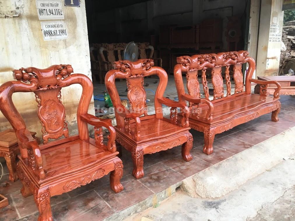 IMG 3960 - Bộ bàn ghế gỗ hương đá tay 10 vân tuyển chọn