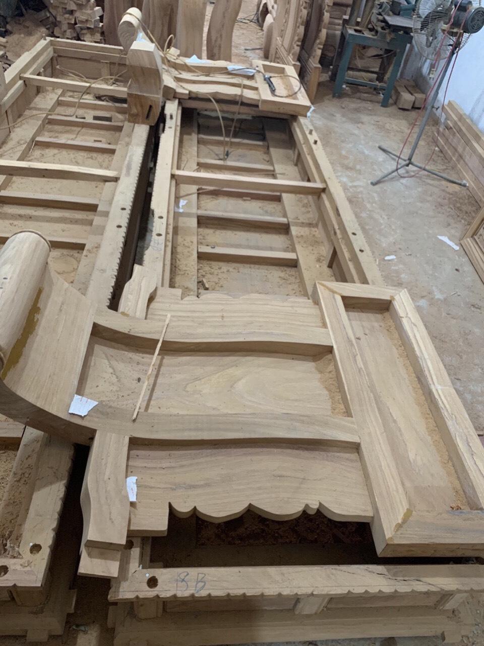 bo ghe tan - Bộ bàn ghế Tần Thủy Hoàng tay 12 gỗ gõ đỏ