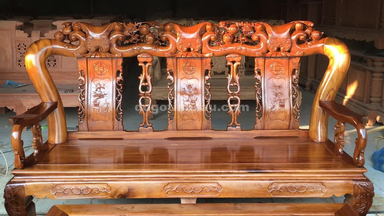 IMG 3761 - Bộ bàn ghế Minh Quốc đào tay 12 gỗ gụ ta Quảng Bình