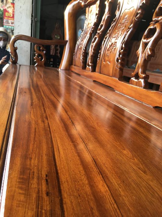 IMG 3765 - Bộ bàn ghế Minh Quốc đào tay 12 gỗ gụ ta Quảng Bình