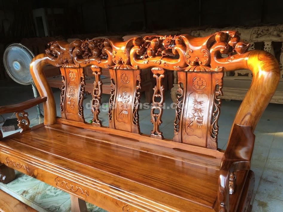 IMG 3767 - Bộ bàn ghế Minh Quốc đào tay 12 gỗ gụ ta Quảng Bình