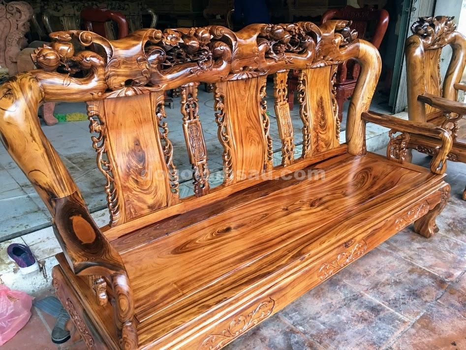 IMG 4263 - Bộ bàn ghế gỗ gụ ta tay 12 vân cực đẹp