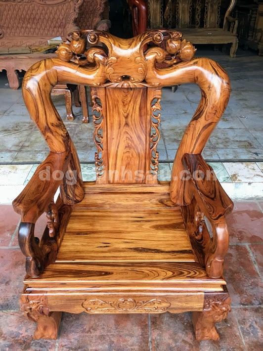 IMG 4272 - Bộ bàn ghế gỗ gụ ta tay 12 vân cực đẹp