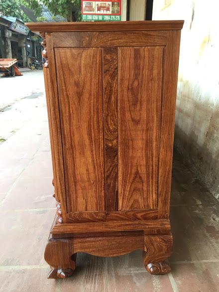 IMG 4310 - Kệ tivi cột nho gỗ hương vân dài 2m4