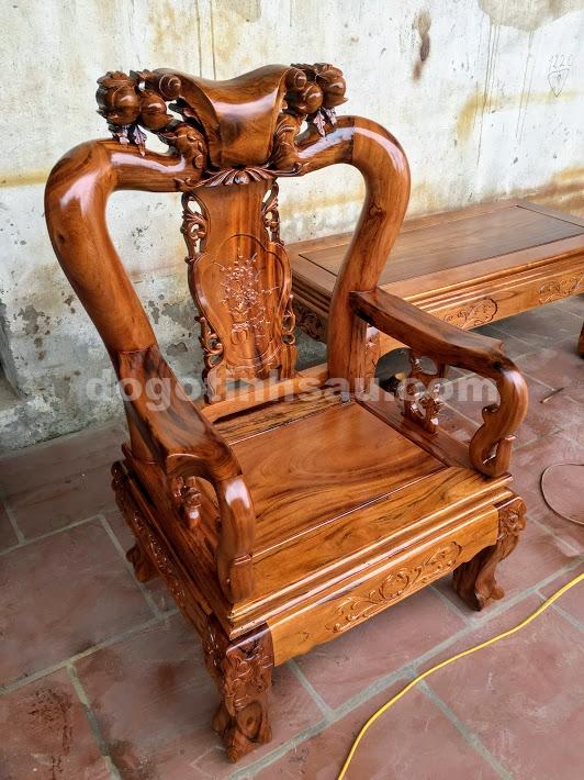 IMG 4388 - Bộ bàn ghế gỗ gụ ta quảng bình tay 10 (vách liền)