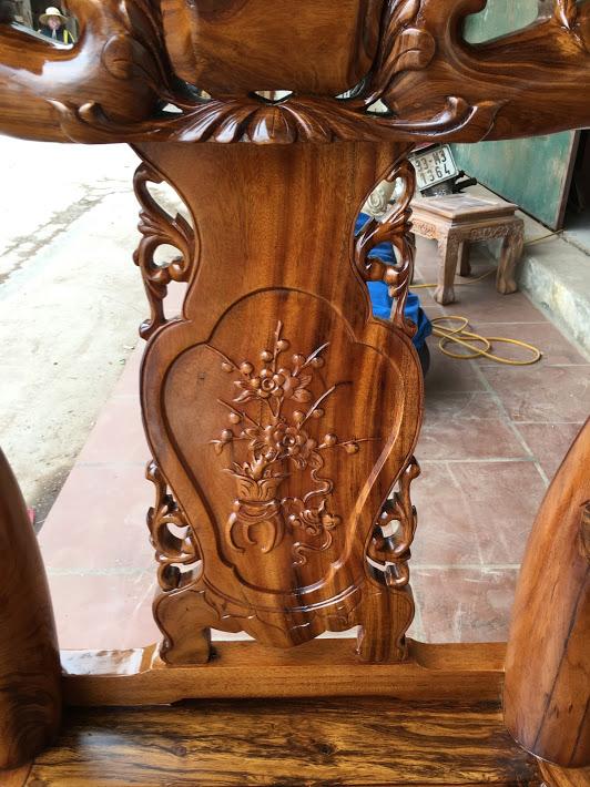 IMG 4409 - Bộ bàn ghế gỗ gụ ta quảng bình tay 10 (vách liền)