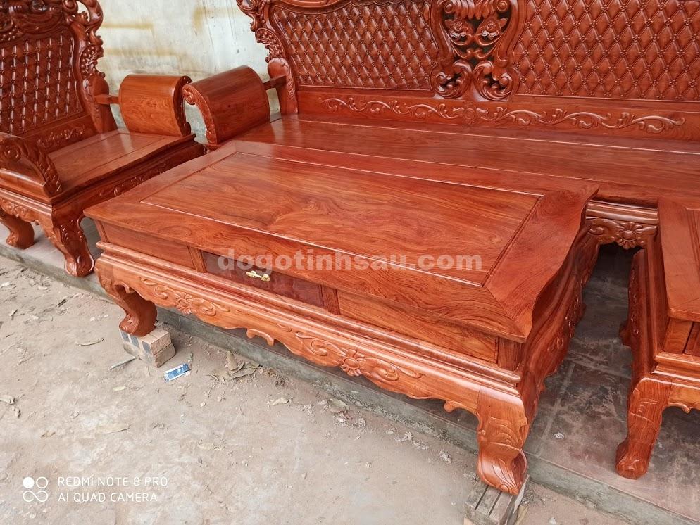 IMG 4424 - Bộ bàn ghế Hoàng Gia gỗ hương đá
